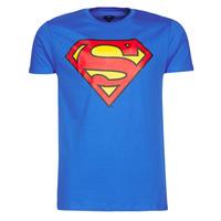 Abbigliamento Uomo T-shirt maniche corte Casual Attitude SUPERMAN LOGO CLASSIC Blu