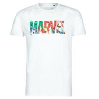 Abbigliamento Uomo T-shirt maniche corte Yurban MARVEL HERO LOGO Bianco