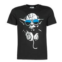 Abbigliamento Uomo T-shirt maniche corte Yurban DJ YODA COOL Nero