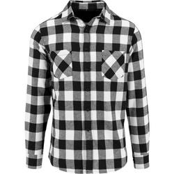 Abbigliamento Uomo Camicie maniche lunghe Build Your Brand BY031 Nero/Bianco
