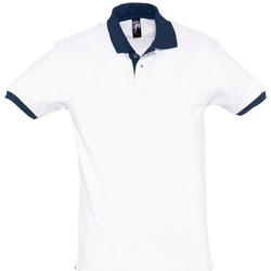 Abbigliamento Polo maniche corte Sols PRINCE COLORS Blanco