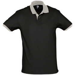Abbigliamento Polo maniche corte Sols PRINCE COLORS Negro