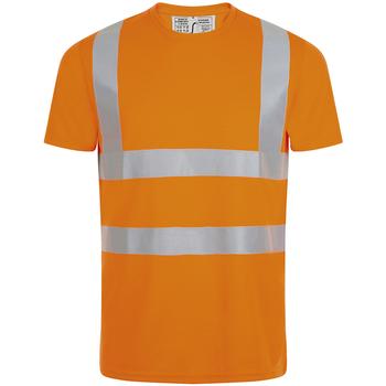 Abbigliamento Uomo T-shirt maniche corte Sols MERCURE PRO VISIBLITY WORK Naranja