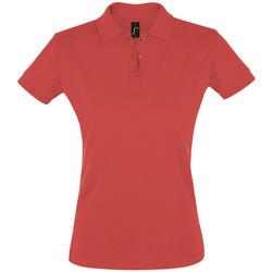 Abbigliamento Donna Polo maniche corte Sols PERFECT COLORS WOMEN Rojo