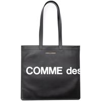 Borse Donna Borse a spalla Comme Des Garcons Borsa Shopping  Huge Logo in pelle Nero