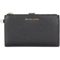 Borse Donna Portafogli MICHAEL Michael Kors Hand-Portemonnaie in genarbtem Leder Schwarz Nero