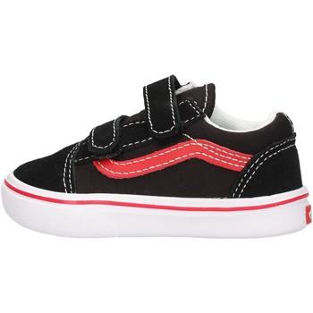 Scarpe Bambino Sneakers basse Vans - Comfycush old skool nero/rosso VN0A4TZI4HJ1 NERO