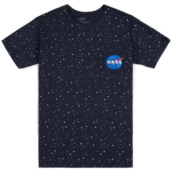 Abbigliamento Uomo T-shirt maniche corte Alpha T-shirt  Starry T noir/bleu/blanc