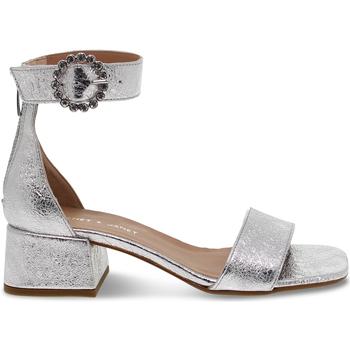 Scarpe Donna Sandali Janet&Janet Sandalo basso  in laminato argento argento