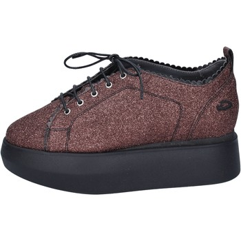 Scarpe Donna Sneakers basse Guardiani sneakers glitter rosso