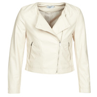 Abbigliamento Donna Giacca in cuoio / simil cuoio Only ONLDALY Beige