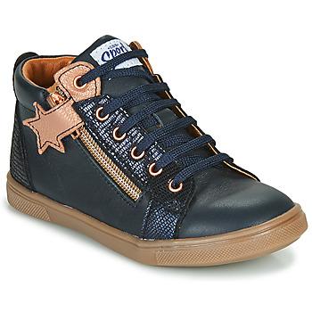 Scarpe Bambina Sneakers alte GBB VALA Marine / Rosa