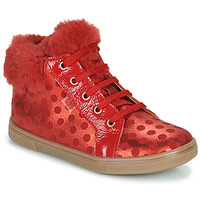 Scarpe Bambina Sneakers alte GBB JUNA Rosso