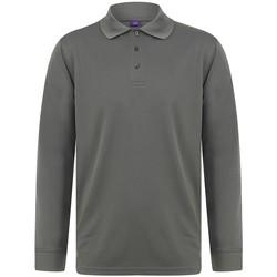 Abbigliamento Uomo Polo maniche lunghe Henbury HB478 Carbone