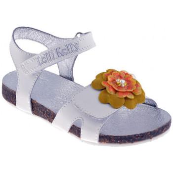 Scarpe Bambina Sandali Lelli Kelly 7516Sandali bianco/giallo