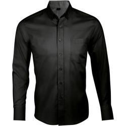 Abbigliamento Uomo Camicie maniche lunghe Sols BUSINESS MEN Negro