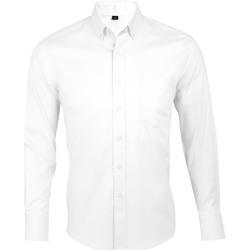 Abbigliamento Uomo Camicie maniche lunghe Sols BUSINESS MEN Blanco