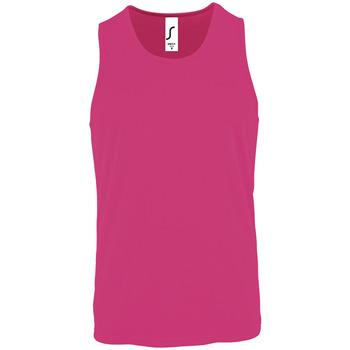 Abbigliamento Uomo Top / T-shirt senza maniche Sols SPORT TT MEN Rosa