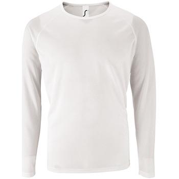 Abbigliamento Uomo T-shirts a maniche lunghe Sols SPORT LSL MEN Blanco