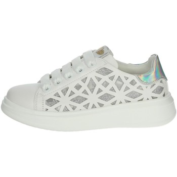 Scarpe Bambina Sneakers basse Asso AG-5407 BIANCO/ARGENTO