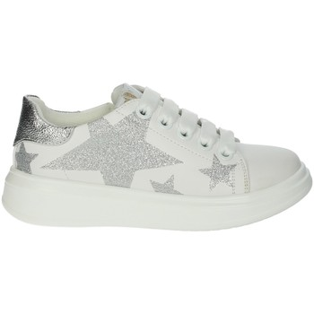 Scarpe Bambina Sneakers basse Asso AG-5405 BIANCO/ARGENTO