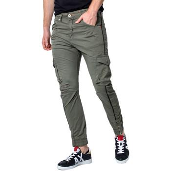 Abbigliamento Uomo Pantalone Cargo Displaj EVOLUTION MOLLA Verde