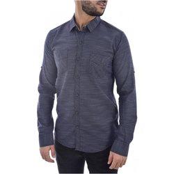 Abbigliamento Uomo Camicie maniche lunghe Goldenim Paris maniche lunghe 1022 blu