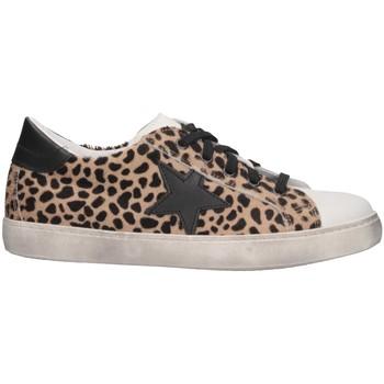 Scarpe Bambina Sneakers basse Dianetti Made In Italy I98410 Sneakers Bambina Leopardato Leopardato