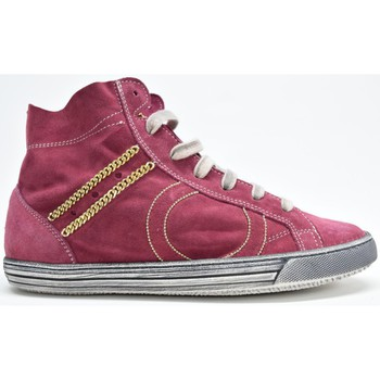 Scarpe Donna Sneakers alte Play Hat CALZATURE SNEAKERS ALTA DONNA CAMOSCIO BORDO' N.37 MADE ITALY Rosso