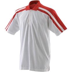 Abbigliamento Uomo Polo maniche corte Finden & Hales LV328 Bianco/Rosso
