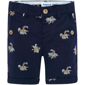 Abbigliamento Bambina Shorts / Bermuda Mayoral Kids Bermuda estampado tigres Tinta blu marino