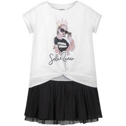 Abbigliamento Bambina Abiti corti Mayoral Vestido combinado Blanco bianco