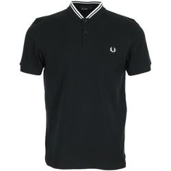 Abbigliamento Uomo Polo maniche corte Fred Perry Bomber Collar Polo Shirt Nero