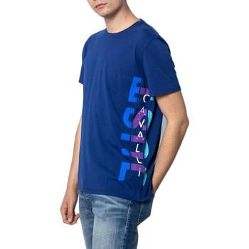 Abbigliamento Uomo T-shirt maniche corte Roberto Cavalli S03GC0530 Blu