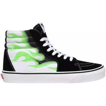 Scarpe Donna Sneakers alte Vans SK8HI Flame Bianco, Nero, Verde