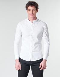 Abbigliamento Uomo Camicie maniche lunghe Yurban MASS Bianco