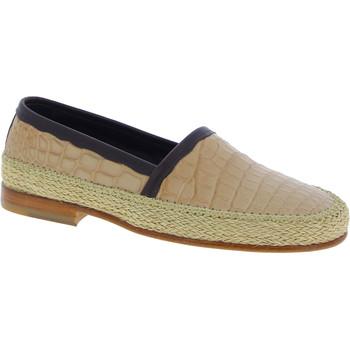 Scarpe Uomo Mocassini D&G Dolce&gabbana mocassini fashion da uomo in pelle di coccodri beige