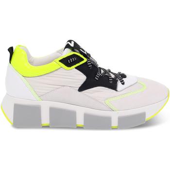 Scarpe Donna Sneakers basse Vic Sneakers  in nylon e camoscio bianco e nero bianco,nero