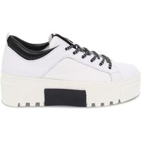 Scarpe Donna Sneakers basse Vic Sneakers  in pelle e nylon bianco e nero bianco,nero