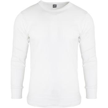 Abbigliamento Uomo T-shirts a maniche lunghe Floso  Bianco