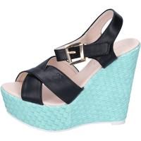 Scarpe Donna Sandali Solo Soprani sandali pelle sintetica nero