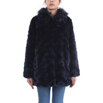 Abbigliamento Donna Cappotti Meheran 18182 Cappotto Donna Blu Blu