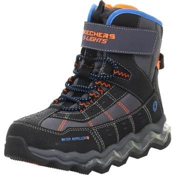 Scarpe Unisex bambino Trekking Skechers Kinderstiefel Polar Rush Nero,Arancione