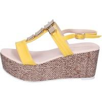 Scarpe Donna Sandali Solo Soprani sandali pelle sintetica giallo