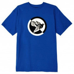 Abbigliamento T-shirt maniche corte Obey Split Dove T-Shirt - Royal Blue Blu