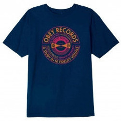 Abbigliamento T-shirt maniche corte Obey Top Rank T-Shirt - Navy Blu