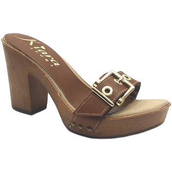 Scarpe Donna Ciabatte Kiara Shoes K36 Marrone