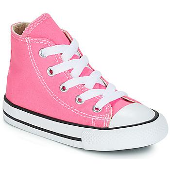 Scarpe Bambino Sneakers alte Converse CHUCK TAYLOR ALL STAR CORE HI Rosa