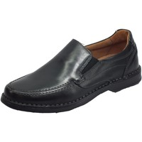 Scarpe Uomo Mocassini Zen ero Mocassini Uomo pelle Flex Light Eco Friendly Memory Confort Nero