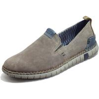 Scarpe Uomo Mocassini Zen sini Uomo camoscio beige Flex Light Eco Friendly Memory Confort Tortora
